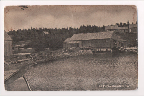 ME, Georgetown - Old Sawmill and a few other buildings, vintage postcard - w0499
