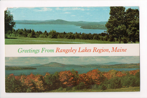 ME, Maine Greetings from Rangley Lakes Region, Large Letter postcard - B08034