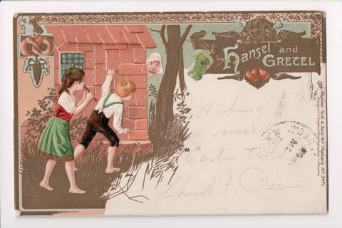 Greetings - Misc - HANSEL and GRETEL - @1903 Fairy Tale Tuck postcard - B08012