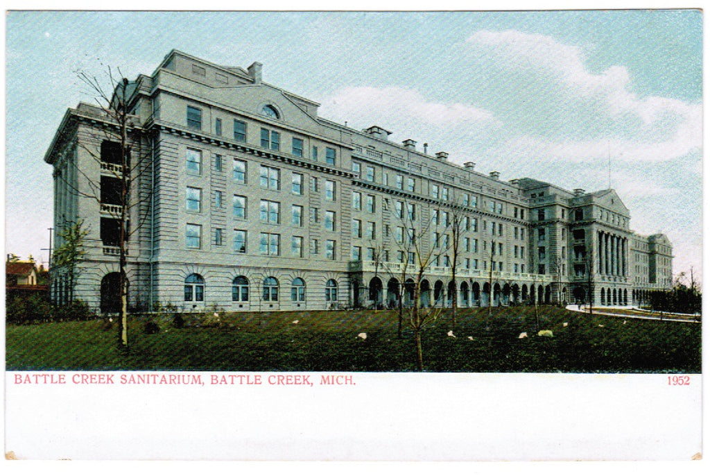 MI, Battle Creek - Sanitarium postcard - D08061