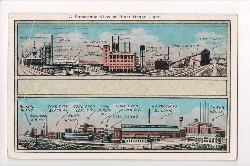 MI, Dearborn - River Rouge Plant panoramic View - CP0277