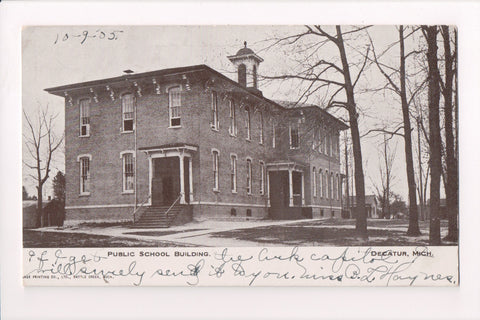 MI, Decatur - Public School Building - @1905 - A12257