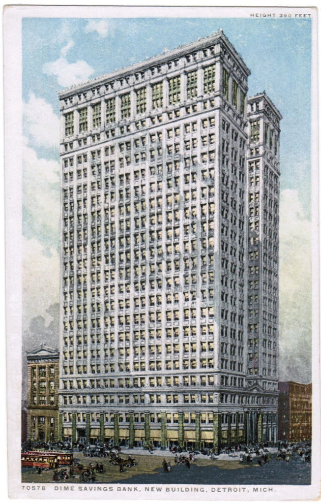 MI, Detroit - Dime Savings Bank new building 390 ft height - G03116