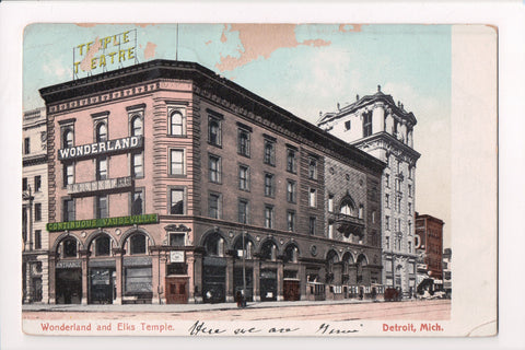MI, Detroit - Temple Theatre, Vaudeville, Elks Temple - z17005 **DAMAGED / AS IS