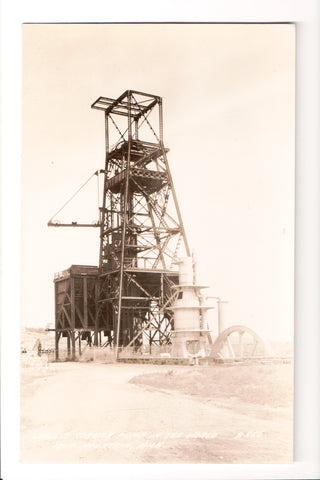MI, Iron Mountain - Largest Cornish Pump in world, close up RPPC - D06131