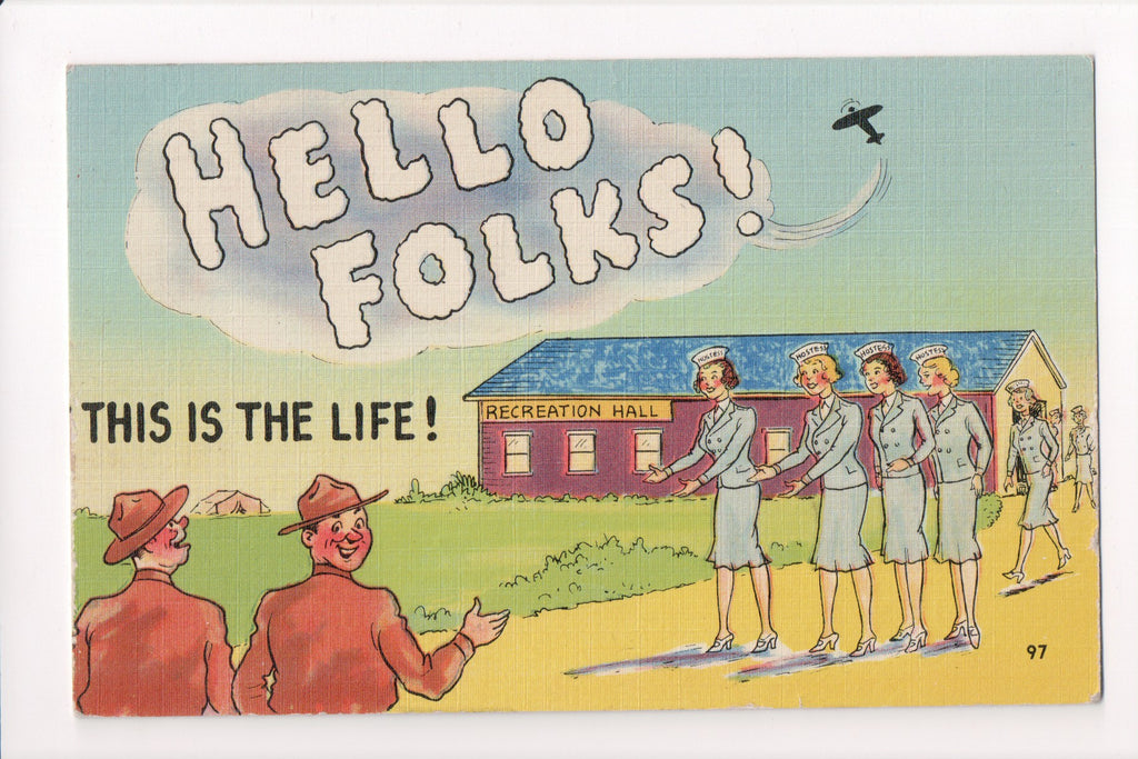MISC - Military Comic Humor - HELLO FOLKS This is the Life - JJ0668