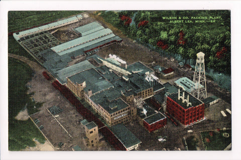MN, Albert Lea - Wilson and Co Packing Plant aerial view - A04103