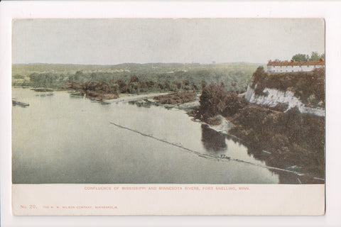 MN, Fort Snelling - Confluence of Rivers, H W Wilson - A12110