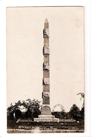 MN, Hinckley - Monument to Great Hinckley Fire - RPPC - CP0270