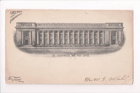 MN, Indianapolis - US Courthouse, Post Office - Tom Jones card - A06838