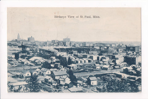 MN, St Paul - BEV of town from above, postcard - E04091