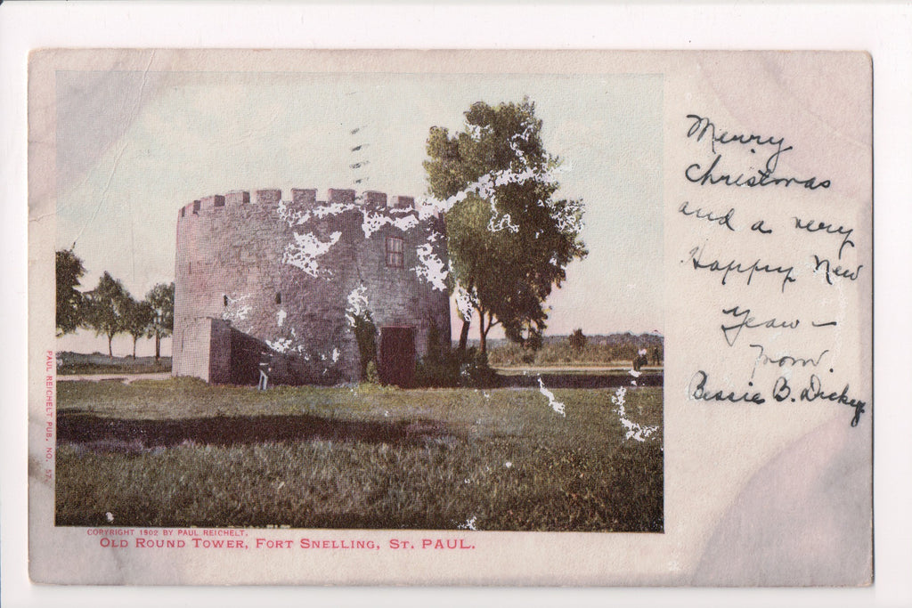 MN, St Paul - Fort Snelling, Old Round Tower - @1903 - J03325 **DAMAGED / AS IS*