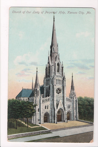 MO, Kansas City - Church of Our Lady of Perpetual Help postcard - C17385