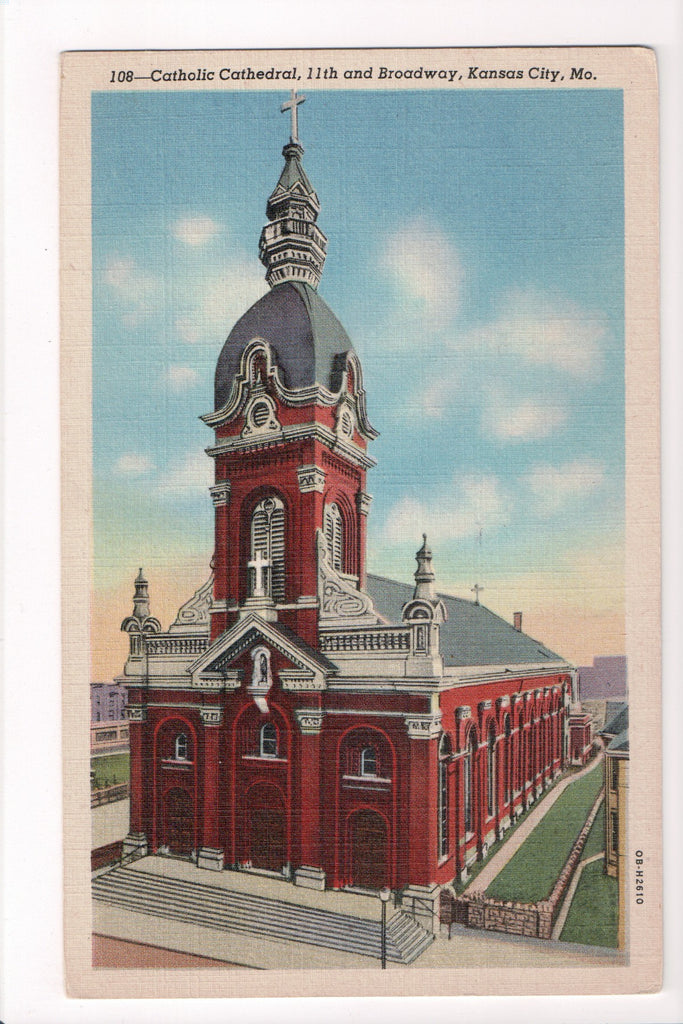 MO, Kansas City - Catholic Cathedral, 11th and Broadway - CP0140