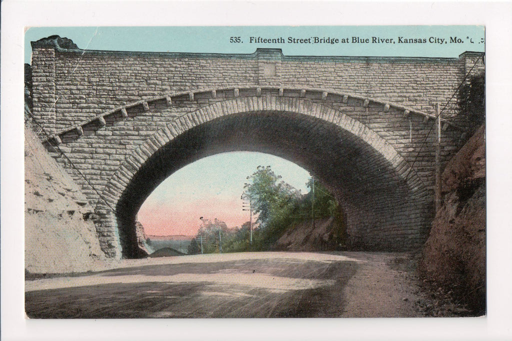 MO, Kansas City - Fifteenth Street Bridge, Blue River - E04089