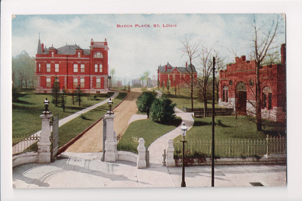 MO, St Louis - Busch Place postcard - CR0159