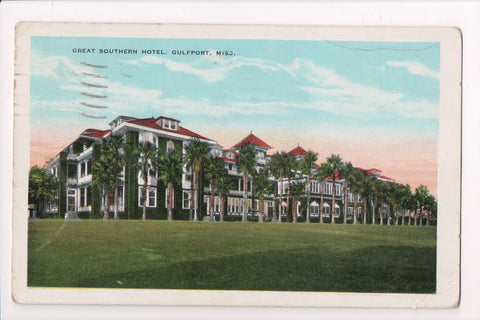 MS, Gulfport - Great Southern Hotel - @1933 postcard - D04078