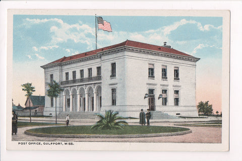 MS, Gulfport - Post Office / PO - postcard - S01334