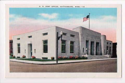 MS, Hattiesburg - US Post Office / PO postcard @1942 - JJ0731