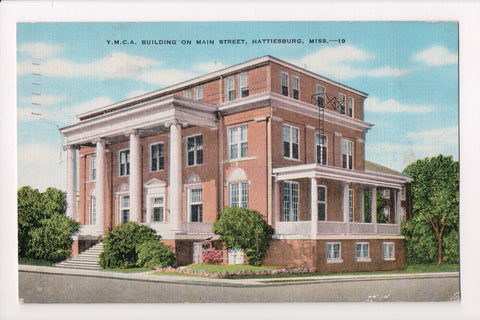 MS, Hattiesburg - YMCA - @1944 postcard - w00827