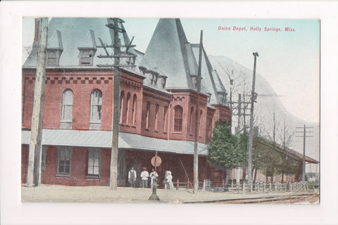 MS, Holly Springs - Union Depot, @1910 postcard - E10229