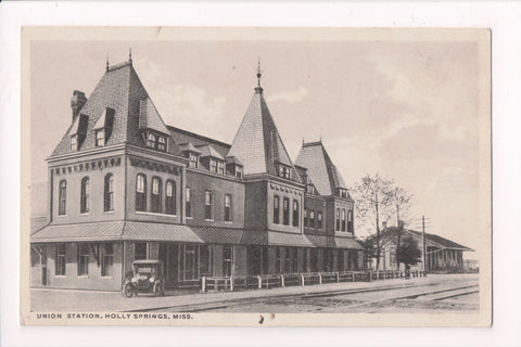 MS, Holly Springs - Union Depot - C T Doubletone postcard - E10230