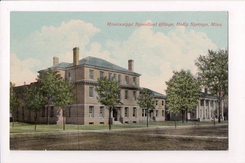 MS, Holly Springs - Mississippi Synodical College, vintage postcard - E10256