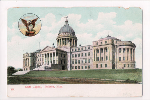 MS, Jackson - State Capitol - @1908 postcard - I04100