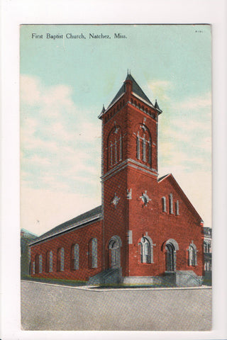 MS, Natchez - First Baptist Church (ONLY Digital Copy Avail) - CP0206