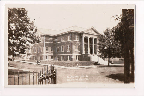 MS, Natchez - Baptist Church - RPPC postcard - D06112