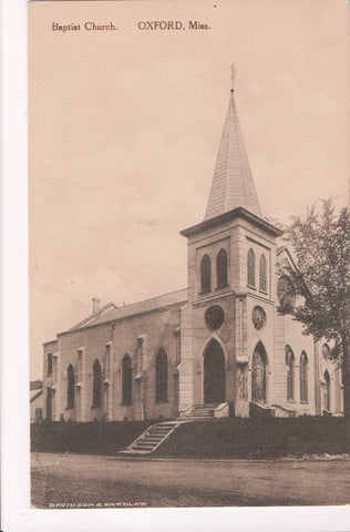 MS, Oxford - Baptist Church, Davidson and Wardlaw postcard - E10240