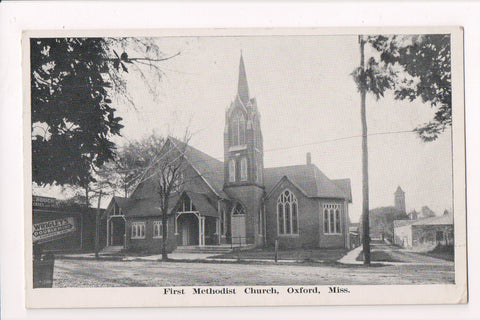 MS, Oxford - First Methodist Church, Wrigleys Double Mint Gum sign - E10251