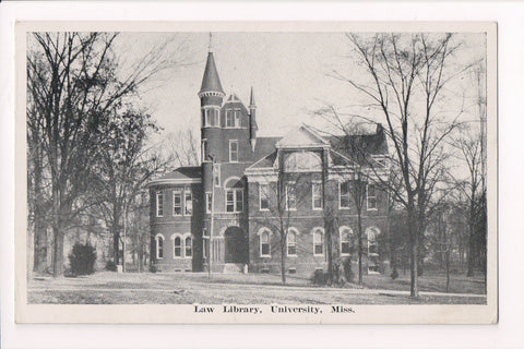 MS, Oxford - University of Mississippi, Law Library postcard - E10254