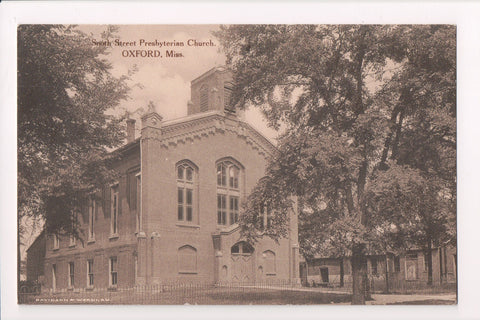 MS, Oxford - South Street Presbyterian Church postcard - E10259
