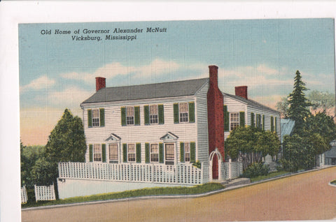 MS, Vicksburg - Governor Alexander McNutt home - postcard - 801009