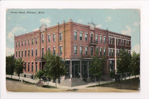 MT, Billings - Grand Hotel postcard - H03234