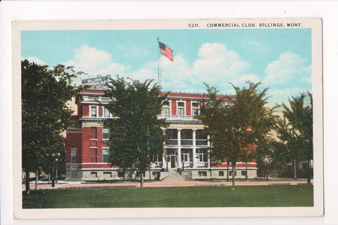 MT, Billings - Commercial Club postcard - S01320