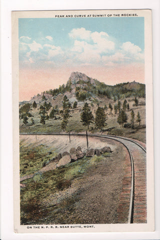 MT, Butler - Peak and curve at summit on NPRR - 405131