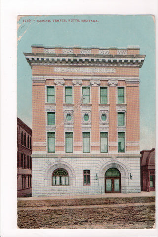 MT, Butte - Masonic Temple - @1906 postcard - SL2448