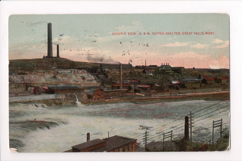 MT, Great Falls - B and M Copper Smelter, General View - S01642