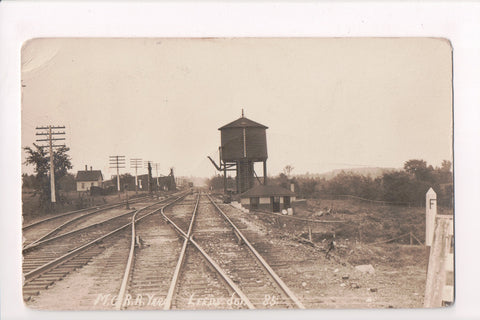 ME, Leeds Junction - Main Central RR Yard, Water storage - @1915 RPPC - A06907