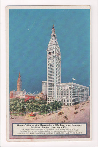 NY, New York City - METROPOLITAN advertisement postcard - MA0177