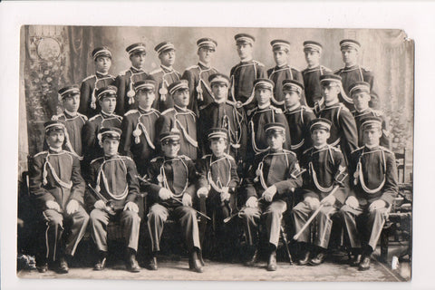 MISC - Military Band? GSC pins on collars - posing RPPC - SH7295