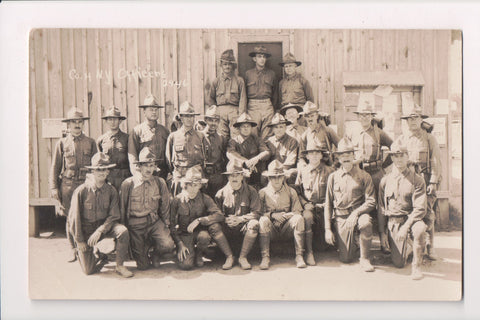 MISC - Military Men, Co H NY Officers posing - RPPC - B06623