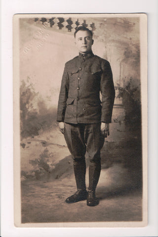 MISC - Military Man in uniform, Geo Lemire Photo - RPPC - cr0298
