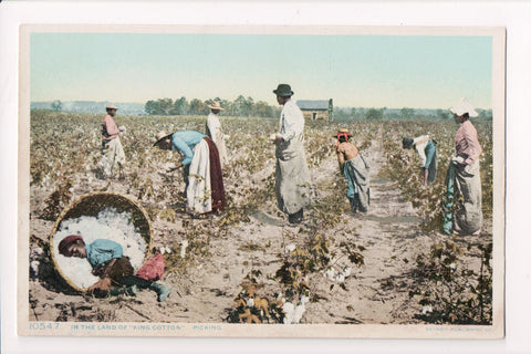 Black Americana - In land of king cotton, field hands, boy sleeping - CP0397