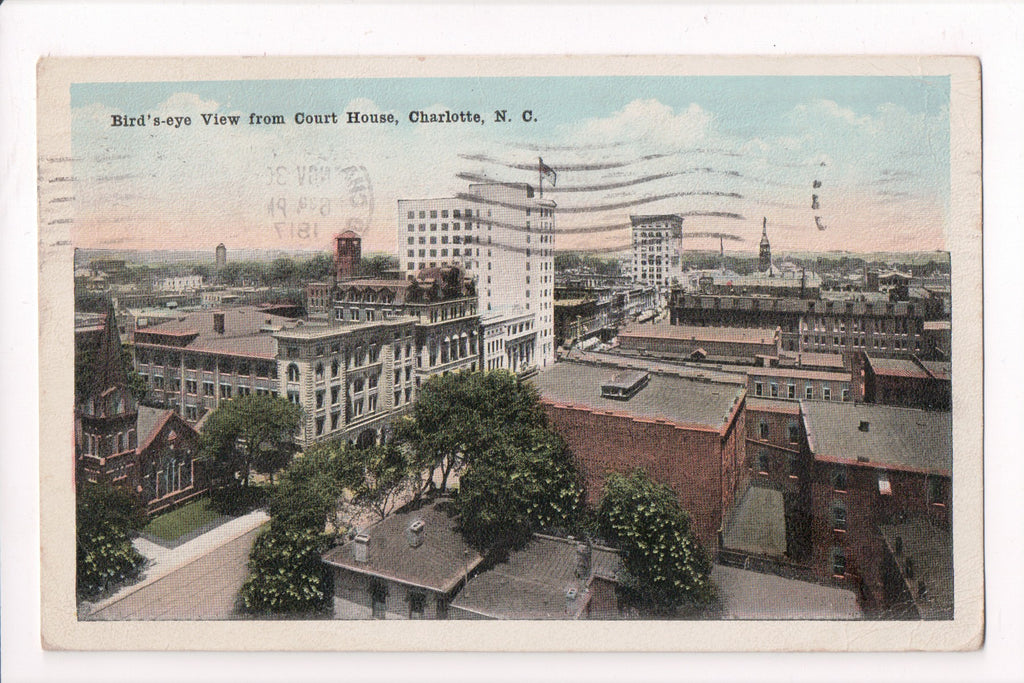NC, Charlotte - BEV from Court House postcard  SH7107
