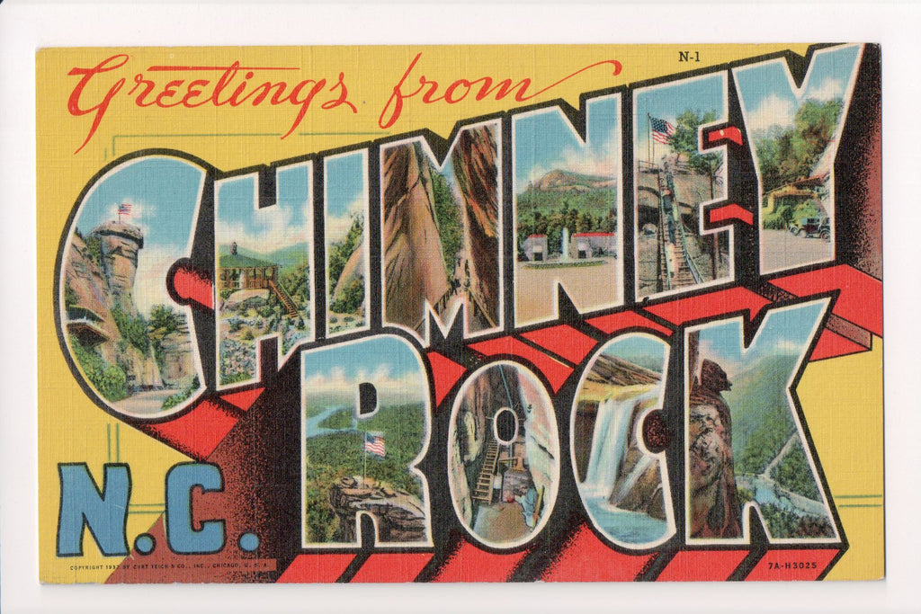 NC, Chimney Rock - Greetings, Large Letter (ONLY Digital Copy Avail) - MT0003
