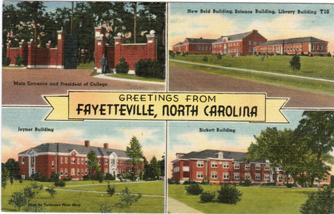 NC, Fayetteville - Greetings from with 4 views - B08177