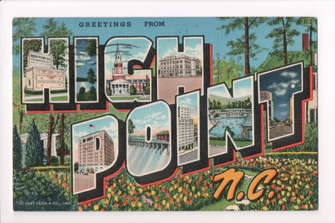 NC, High Point - Greetings from, Large Letter - B17090